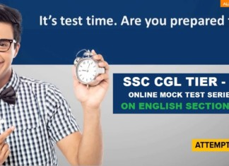SSC CGL Tier II Free Mock Test for English Language and Comprehension : Speed Test